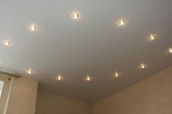 Вариант расположения точечных светильников по кругу