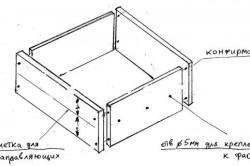 Схема сборки ящика компьютерного стола