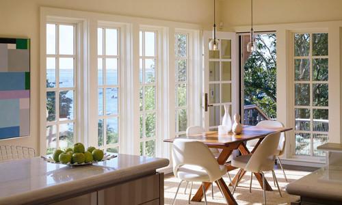Французские окна в столовой