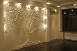 Украшение гостиной лепной композицией