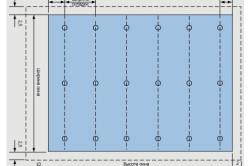 Схема расчета ткани для раскроя римской шторы