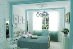 Цвет индиго в спальне