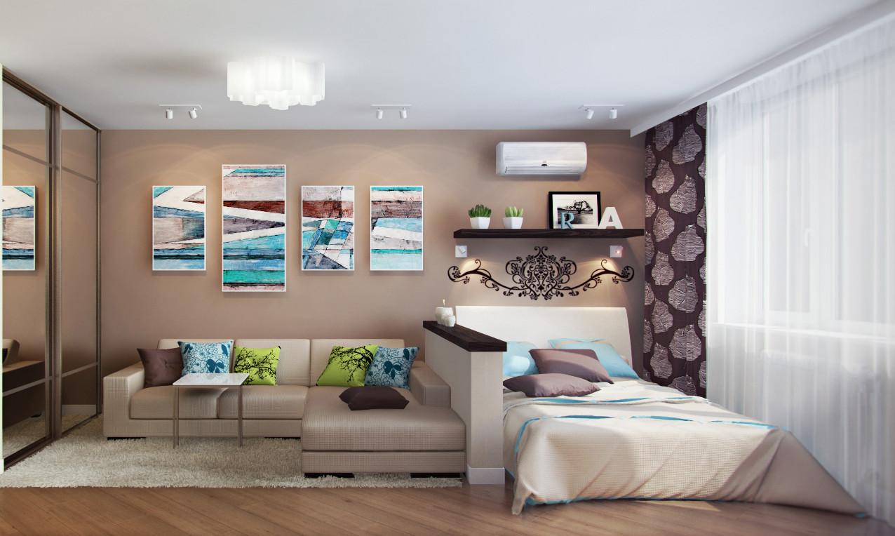 Как из зала сделать спальню и гостиную
