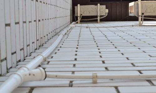 Вариант наружного отвода конденсата для кондиционера