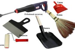 Инструменты для ремонта стяжки