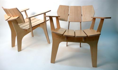 Самодельный стул из фанеры
