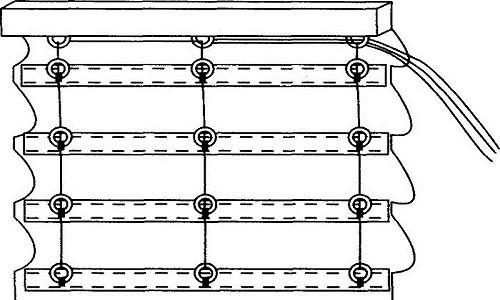 Схема установки планки для римской шторы