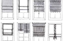 Виды и стили римских штор